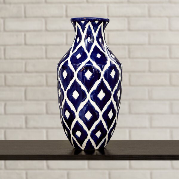 Tall Navy Blue Vase Wayfair