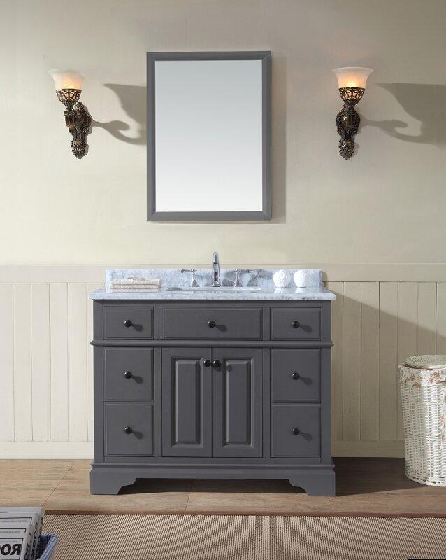 "ari kitchen & bath chela 42"" single bathroom vanity set & reviews"
