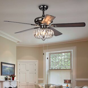 Crystal Light Kit Included Ceiling Fans You Ll Love In 2019 Wayfair