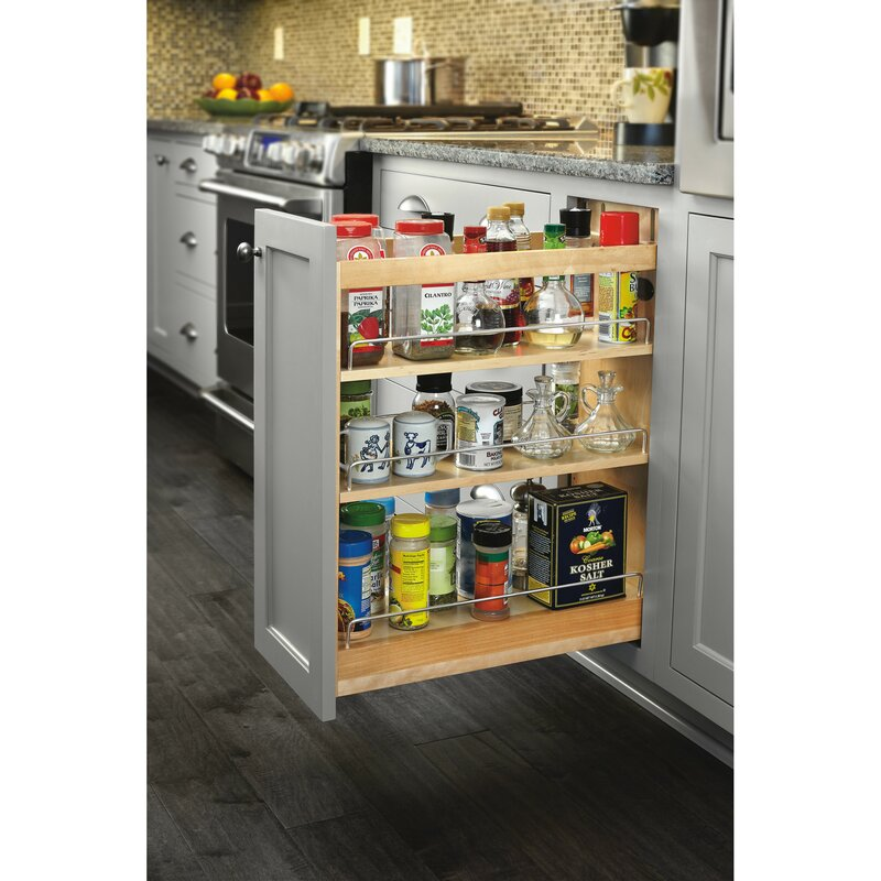 Soft-Close Base Cabinet Organizer Pull Out Pantry