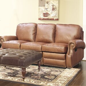 Darby Home Co Longhorn Leather Reclining Sofa