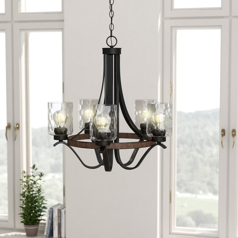 Sabo Indoor 5 Light Candle Style Chandelier