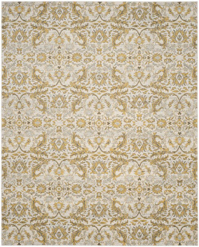 Charlton Home Sagebrush Ivory Gold Area Rug Amp Reviews
