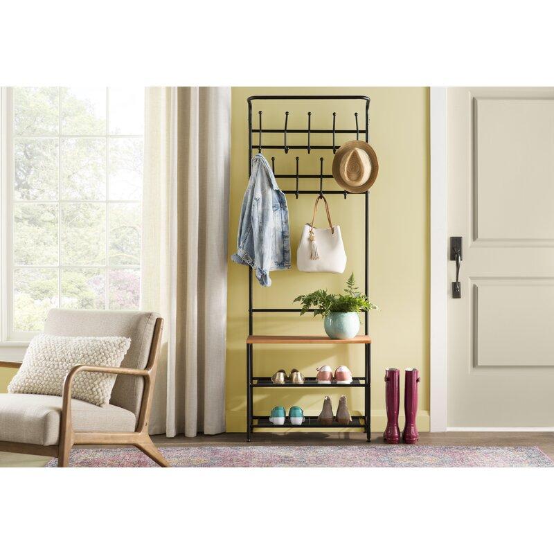 Entryway Storage Coat Rack