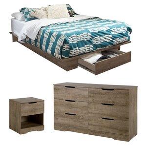Holland Full/Queen Storage Platform Customizable Bedroom Set