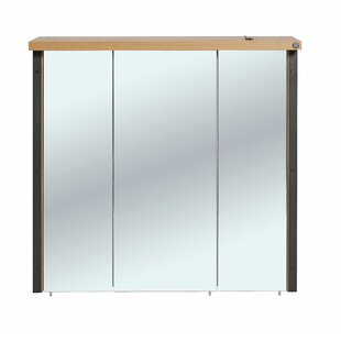 Soho 76 x 73.5cm Wall Mounted Mirrored Cabinet by Tom Tailor