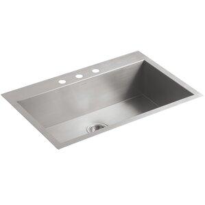 White Single Bowl Kitchen Sink drop-in kitchen sinks you'll love | wayfair