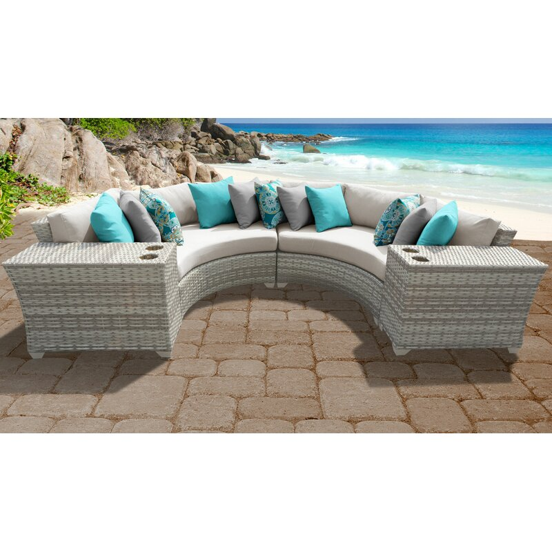 Tk Classics Fairmont 4 Piece Outdoor Sectional Seating Group With