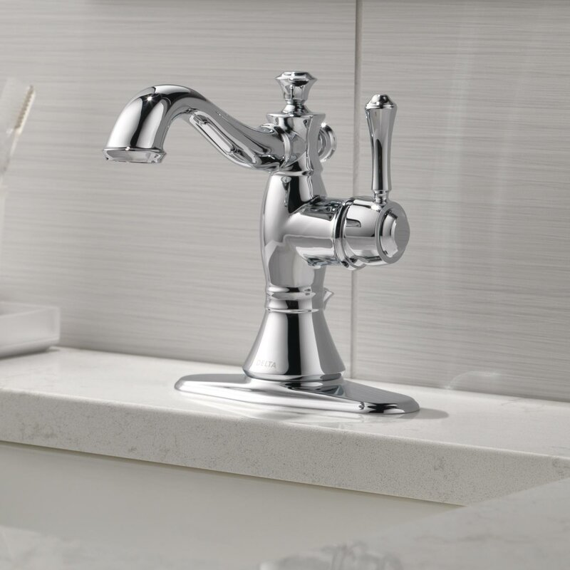 Delta Cassidy™ Single Hole Bathroom Faucet with Drain Assembly ...