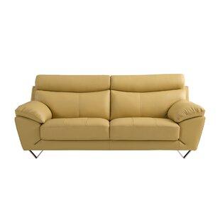 Mustard Yellow Leather Sofa | Wayfair