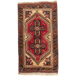 Sierra Handwoven Wool Red/Beige Rug by World Menagerie