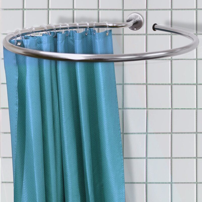 House Additions 76cm Circle Fixed Shower Curtain Rail Ring Set Reviews