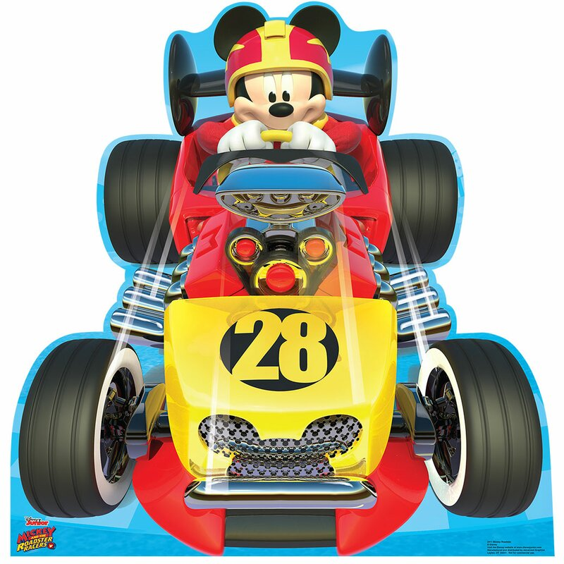 Advanced Graphics Mickey Roadster (Disney\'s Roadster Racers) Standup ...
