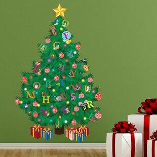 Traditional Kids Alphabet Christmas Tree Wall Decal & Christmas Trees And Flower Wall Decals Youu0027ll Love | Wayfair