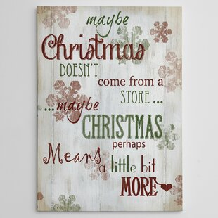 christmas means more type photographic print on wrapped canvas