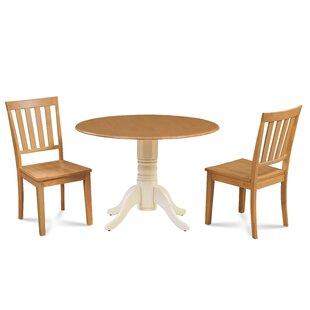 Kaiser 3 Piece Drop Leaf Solid Wood Dining Set