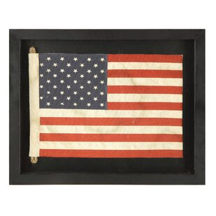 Exceptional Small American Flag Framed Wall Art