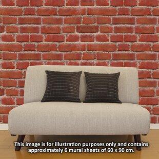 Flexiplus Vintage Brick Wall Decal (Set Of 4)