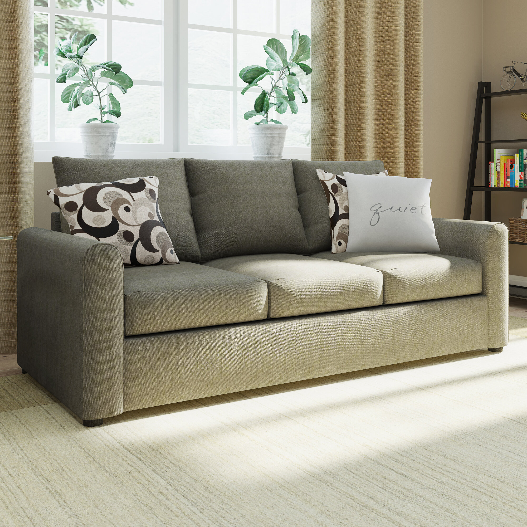 Red Barrel Studio Serta Upholstery Martin House Modern Sleeper Sofa ...