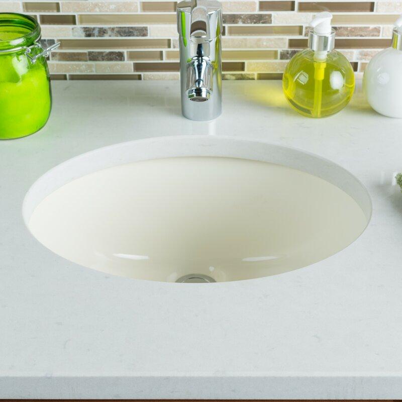 ceramic oval undermount bathroom sink with overflow - Undermount Bathroom Sink Oval