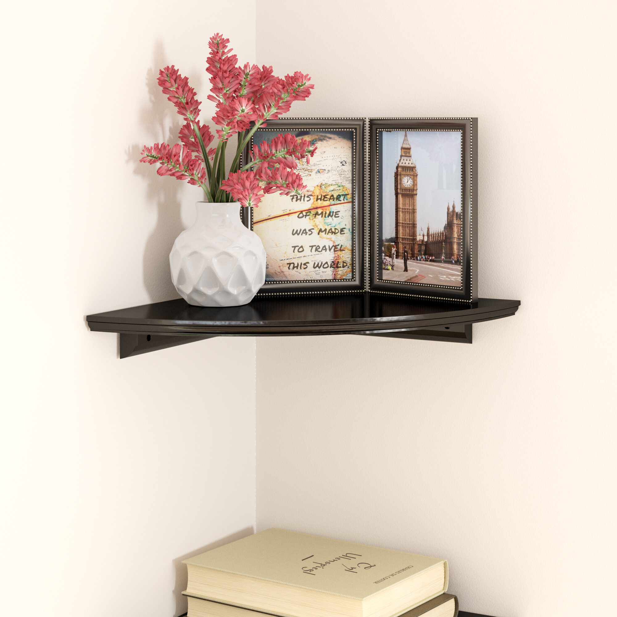 Charlton home tremont floating corner shelf reviews wayfair
