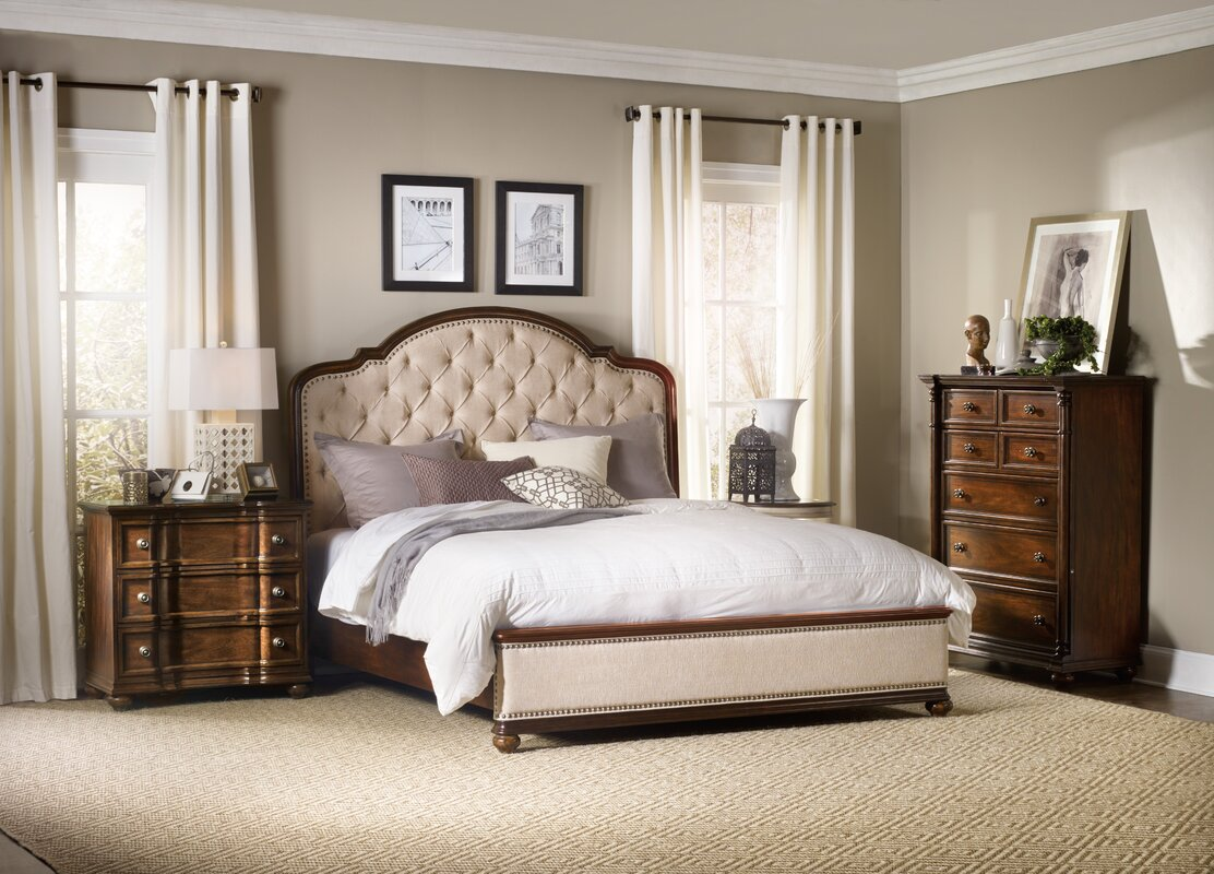 Wayfair Upholstered Bed Home Wayfair Upholstered Bed King: Hooker Furniture Leesburg Upholstered Panel Bed & Reviews