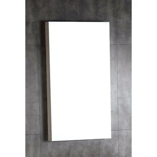 Wood Framed Bathroom Wall Mirror