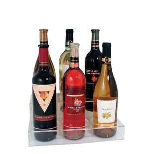 Two-tier 6 Bottle Tabletop Wine Bottle Rack