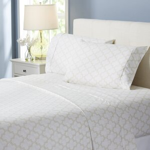 wayfair basics trellis 4 piece sheet set