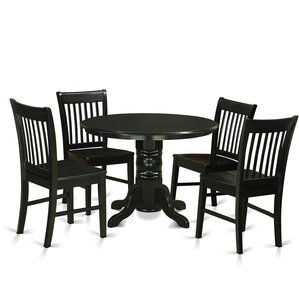 Shelton 5 Piece Dining Set by East West F..