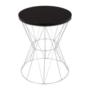 white round end table. Foxe Round End Table White