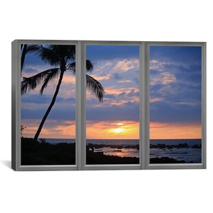 Windows Of The World Beach Sunset Window View Photographic Print On Wred Canvas