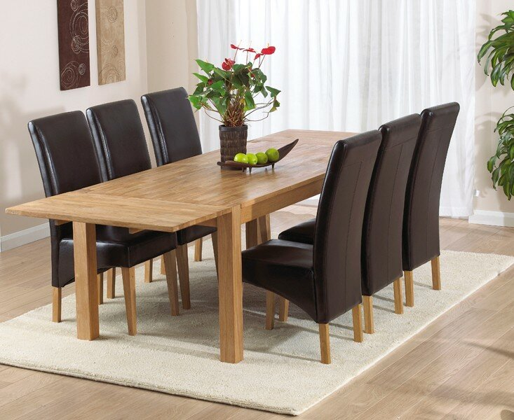 home etc essgruppe florence mit 6 st hlen bewertungen. Black Bedroom Furniture Sets. Home Design Ideas