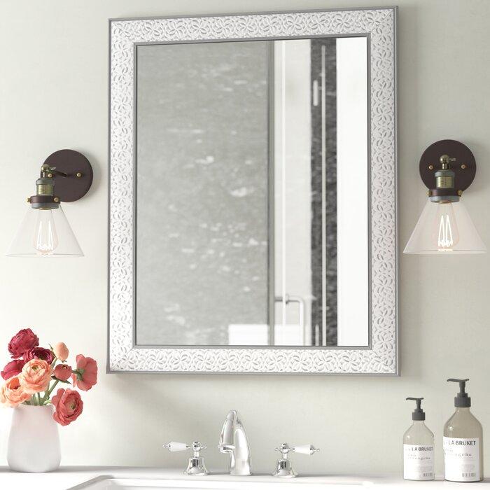 Ophelia & Co. Miroir biseauté de salle de bain / meuble-lavabo ...