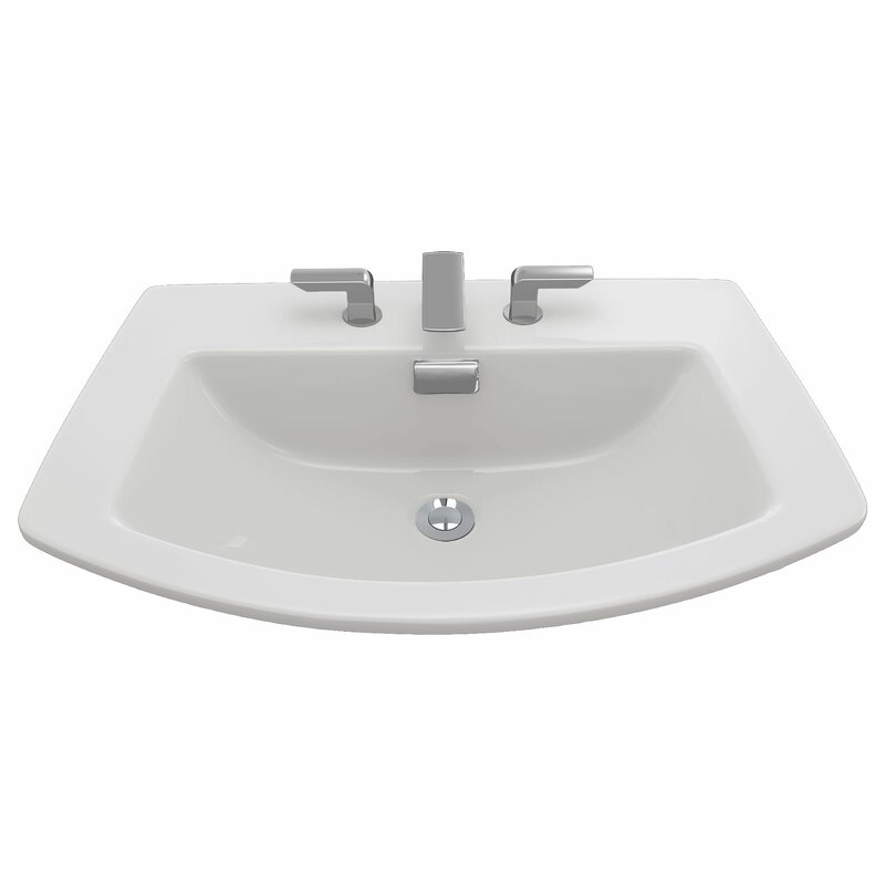 Soiree Ceramic Specialty Drop-In Bathroom Sink with Overflow