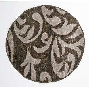Charmant Nader Round Brown Indoor Area Rug