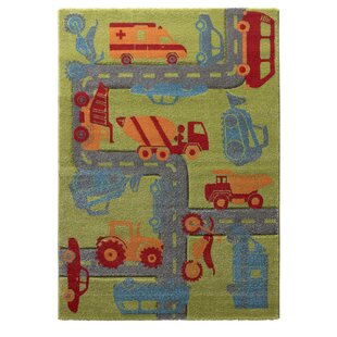 Traffic Woven Green/Grey/Orange Rug by Sigikid
