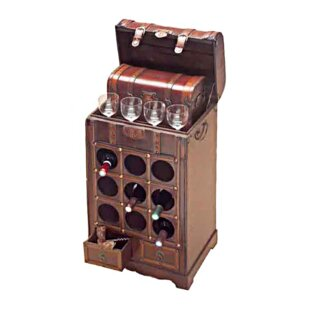 Halethorpe Wooden 9 Bottle Tabletop Wine Rack