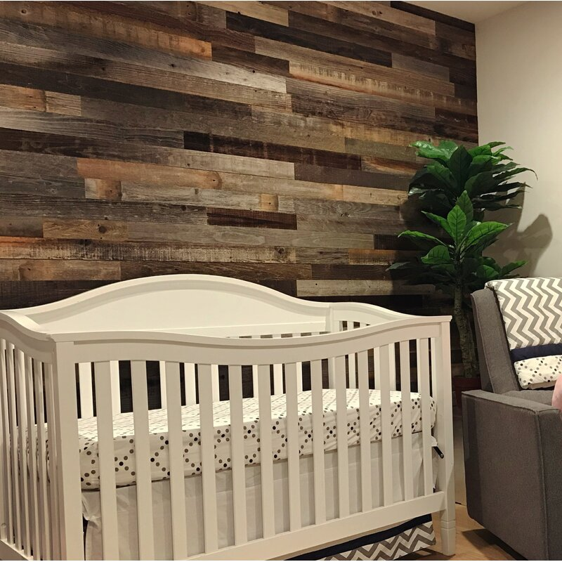 Plankandmill 3 Reclaimed Barnwood L And Stick Wall Paneling Reviews Wayfair
