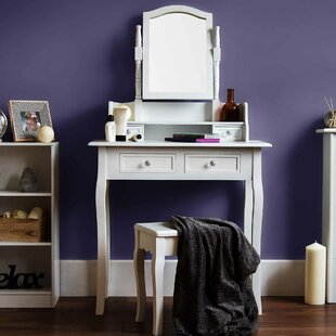Dressing Table Set With Mirror | Wayfair.co.uk
