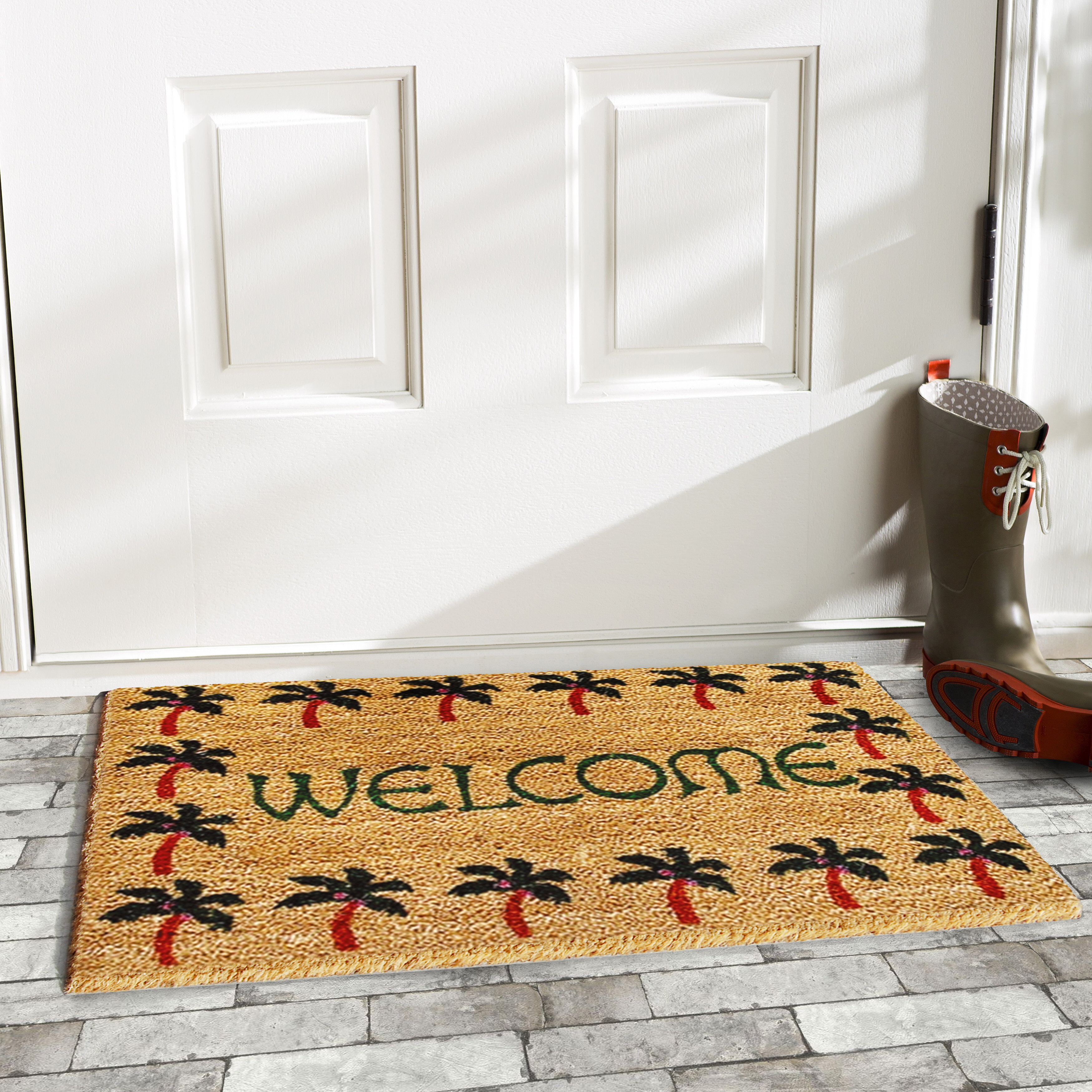 rosas personalized floral door garden expand mats x ivory to p memory comfort click mat foam rose