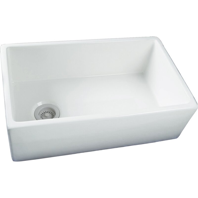 Astonishing Barclay 29 75 L X 17 88 W Single Bowl Fire Clay Farmhouse Kitchen Sink Home Interior And Landscaping Palasignezvosmurscom