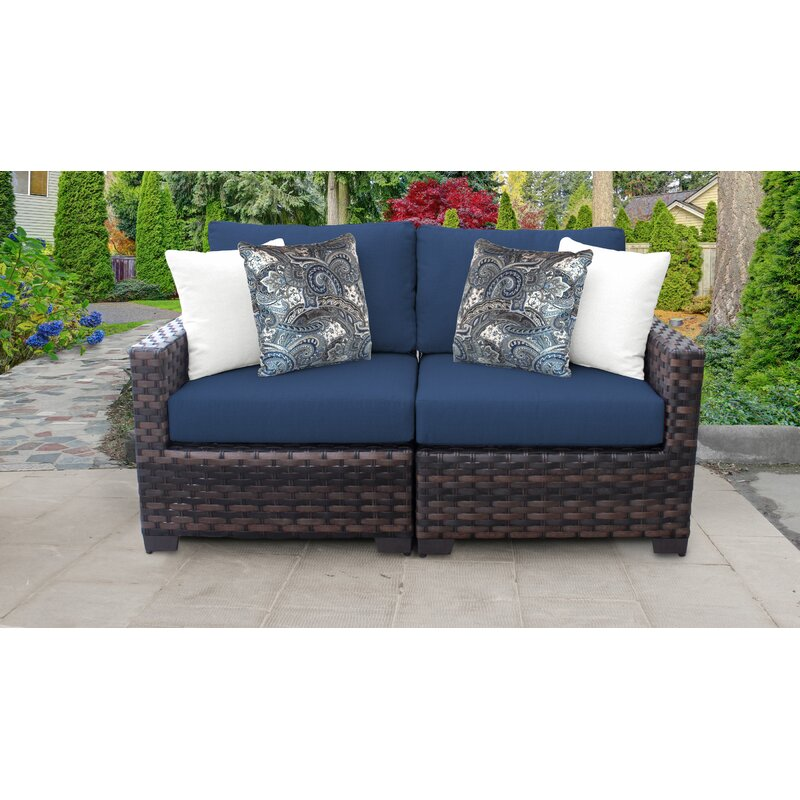 Kathy Ireland Homes Gardens River Brook 2 Piece Outdoor Wicker