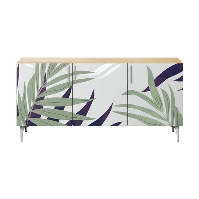 Bay Isle Home Robscott Sideboard Color (Base/Top): Natural/Chrome