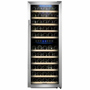 73 Bottle Dual Zone Freestanding Wine ..
