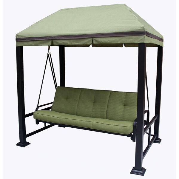 Darby Home Co Trevino 3 Person Porch Swing Metal Frame