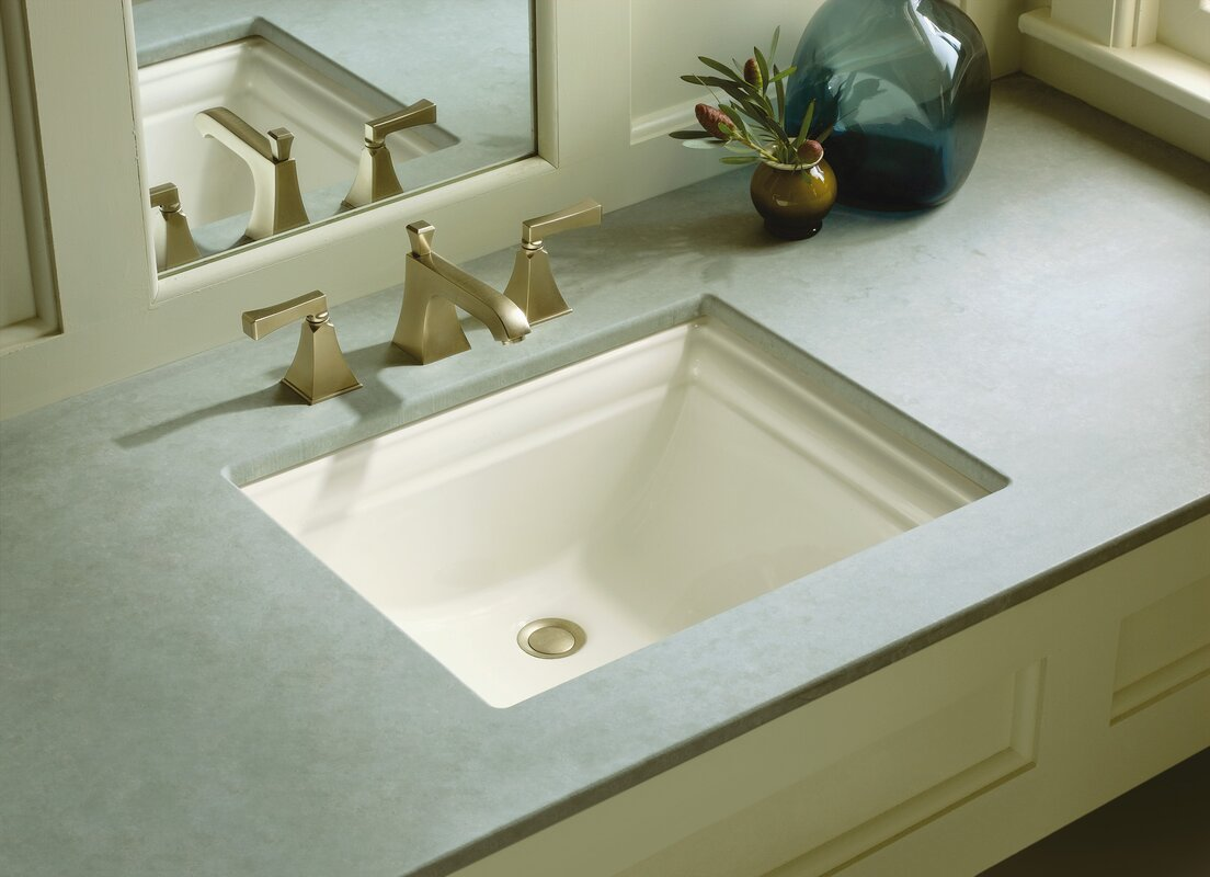 Shop kohler caxton biscuit undermount oval bathroom sink at lowes com - Kohler Memoirs Rectangular Undermount Bathroom Sink With Overflow Defaultname Manurenfo Amazing Images