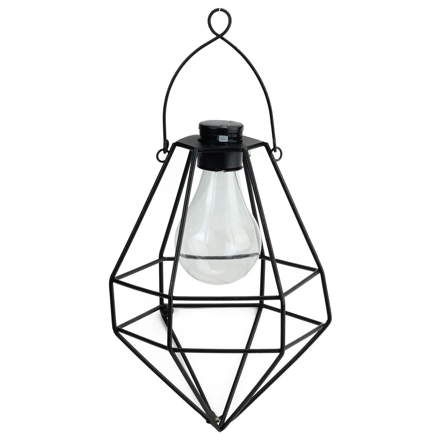 Williston Forge Wilson Diamond Solar Ed 1 Light Led Outdoor Hanging Lantern Wayfair