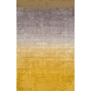 Toth Hand Tufted Yellow Area Rug