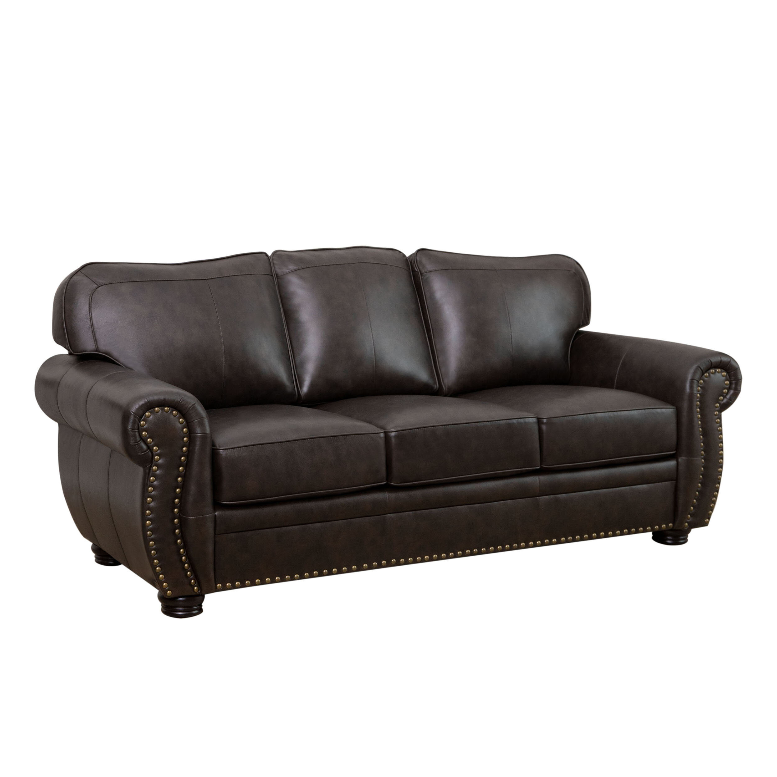 world menagerie hotchkiss leather sofa reviews wayfair rh wayfair com